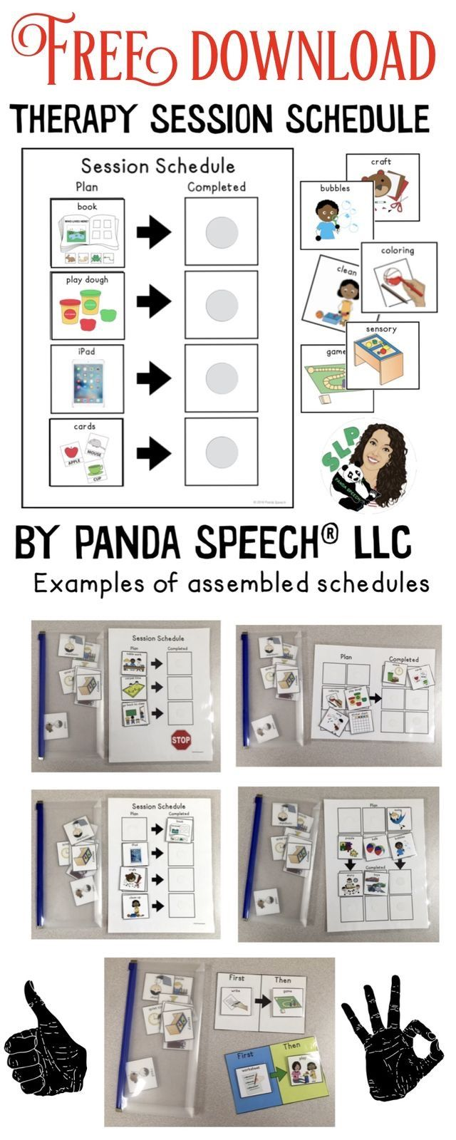 Free Visual Schedule For Therapists With Images Speech Therapy
