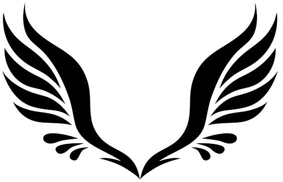 Simple Tribal Angel Wings - ClipArt Best