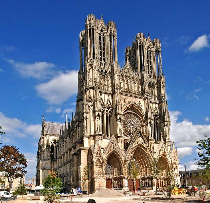 HIGH GOTHIC ARCHITECTURE   Reims Cathedral   C. 1225 99   Most Famous High