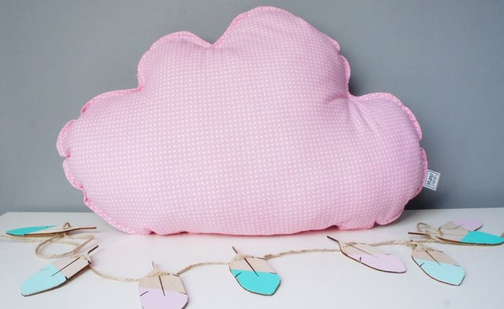 Pillow Cushion Softie Kids Girl Boy- Big cloud colours and pattern to choose by MamaPotrafi on Etsy