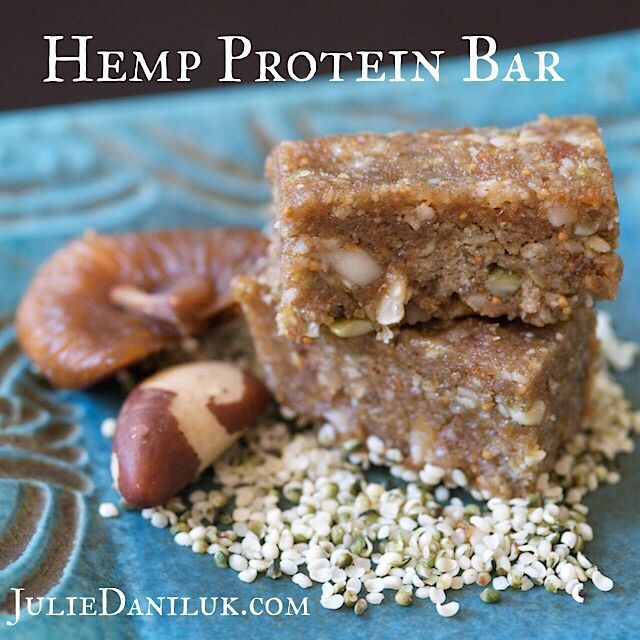 Hemp Protein Bar by JulieDaniluk.com