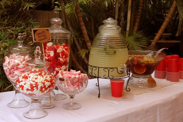 Punch bowls and beehive drink dispenser