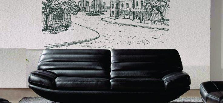 O frantura dintr-un vechi oras intr-un sticker perete. Acorda casei tale sansa de a iesi din anonimat printr-un sticker perete cu efecte vizuale deosebite.  Dimensiuni disponibile:  80x120cm pret 135ron 100x155cm pret 175ron 120x185cm pret 205ron
