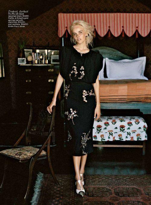 miu miu silk dress : isabel lucas