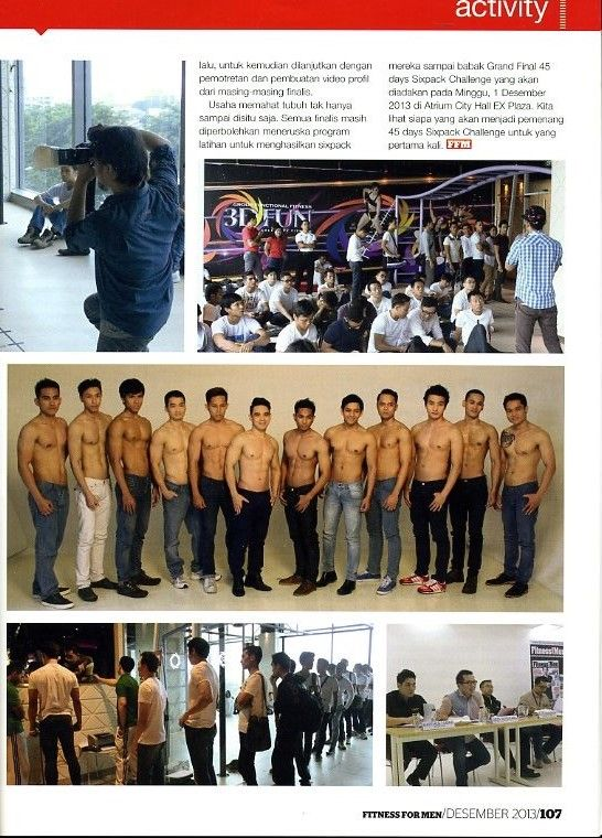 (X)S.M.L supported 45 Days Sixpack Challenge Fitness for Men coverage is appeared on Fitness for Men Indonesia - December 2013