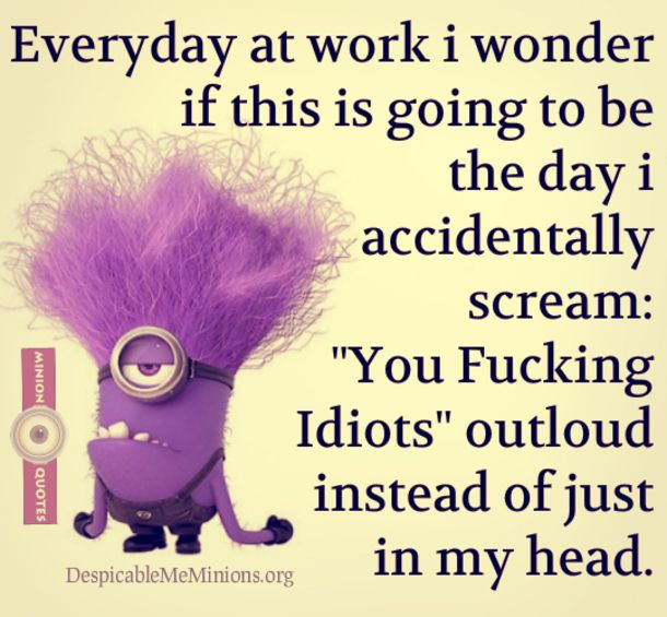 Funny Quotes About Work Unique 26 Best Minions Images On Pinterest  Minions Quotes Funny Pics