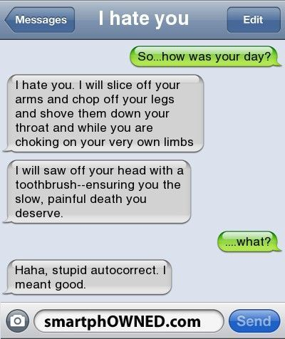 OH, people and their autocorrect!