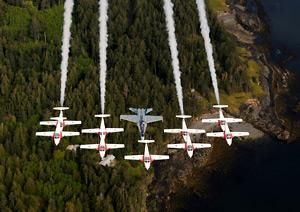 The Canadian Forces Snowbirds! >>>>Arizona's best AVIATION THEMED RESTAURANT! Tell your friends we'd love to see them visit us at the LEFT SEAT WEST RESTAURANT, Glendale, Arizona!  Check out our Facebook page! http://www.facebook.com/pages/Left-Seat-West-Restaurant/192309664138462