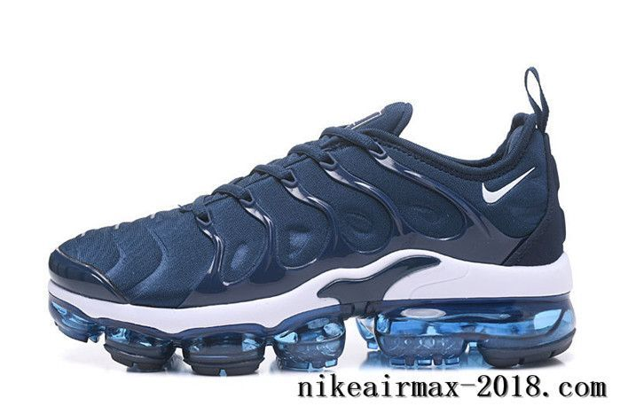 e2ebaaabd60 Nike Air Vapormax Plus Mens Running Shoes Navy Blue White