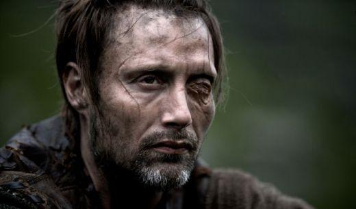 "Mads Mikkelsen as intimidating viking warrior ""One Eye"" in Valhalla Rising (2009) by danish director Nicolas Winding Refn."