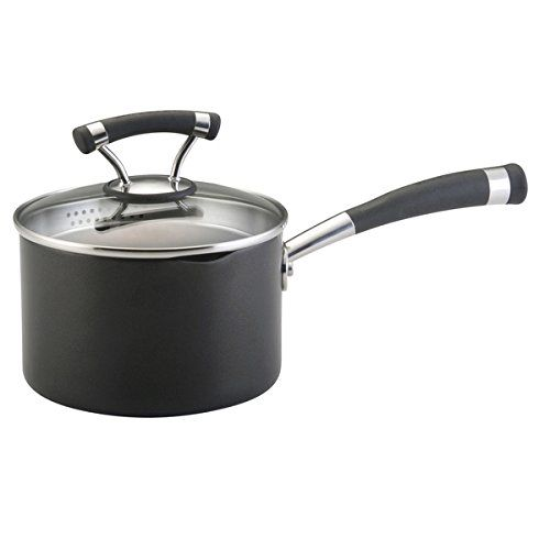 Circulon Contempo 2-quart Black Covered Straining Saucepan * Check out the image by visiting the link.