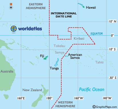 Straddle The International Date Line -sits on the 180º line of longitude in the middle of the Pacific Ocean, and is the imaginary line that separates two consecutive calendar days....