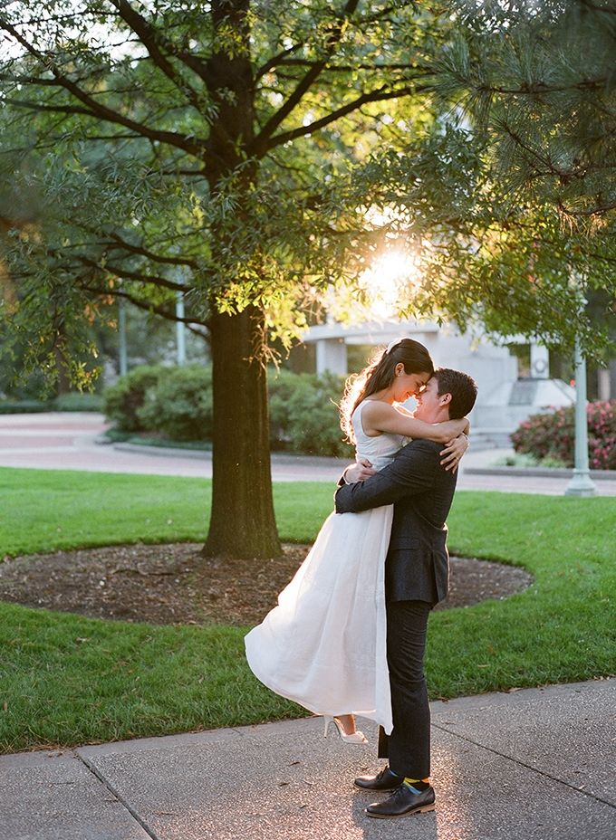 Katie and Dane's wedding was featured on Glamour & Grace!