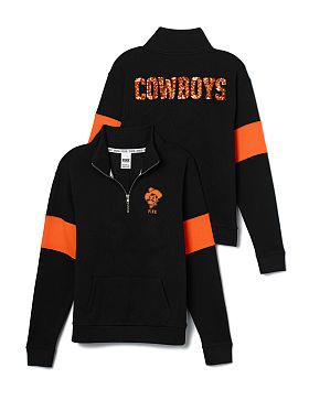 Oklahoma State University Bling Half-Zip Pullover I want please✔✔✔✔✔ >>>>>> @HinesASteph