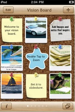 Fab new app: A vision board! <--Ohmygoodness, YES!