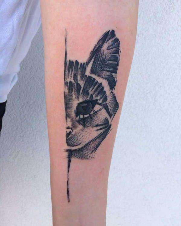 Tatuaż Kot Znaczenie Historia 50 Zdjęć Pomysł Na