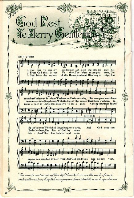 ♥ Sheet Music Printables for gift wrapping, or DIY Paper Projects .... God Rest Ye Merry Gentlemen by raidensgrammie21, via Flickr