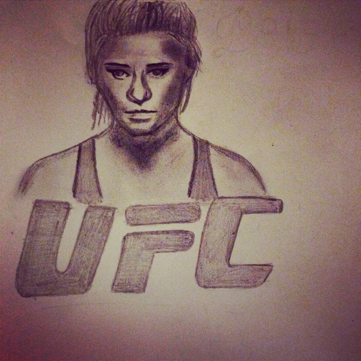 My drawing of UFC fighter Paige VanZant