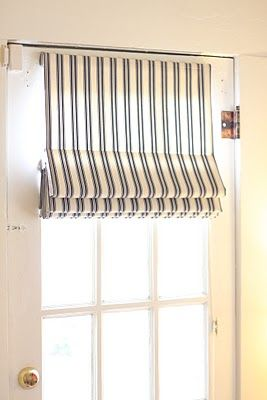 Roman shades on french doors... Smart! : door shades - Pezcame.Com