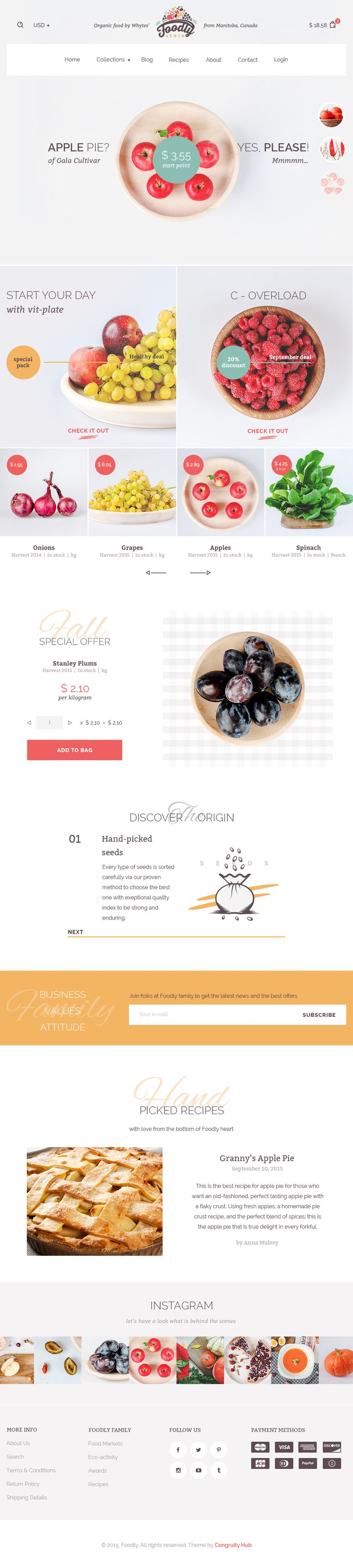 D health food store in l a - Foodly Organic Food Store Psd Template