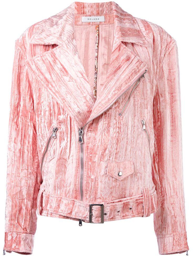 ¡Cómpralo ya!. Delada - Velvet Biker Jacket - Women - Viscose - 2. Pink velvet biker jacket from Delada. Size: 2. Color: Pink/purple. Gender: Female. Material: Viscose. , chaquetadecuero, polipiel, biker, ante, antelina, chupa, decuero, leather, suede, suedette, fauxleather, chaquetadecuero, lederjacke, chaquetadecuero, vesteencuir, giaccaincuio, piel. Chaqueta de cuero  de mujer color rosa,púrpura de Delada.