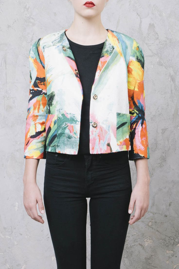 GIACCA A FIORI #MarcoBologna #giacca #fiori #flower #jacket #style #summer #ootd #outfit #look #womenswear #WomenStyle #fashion #MarcoBologna