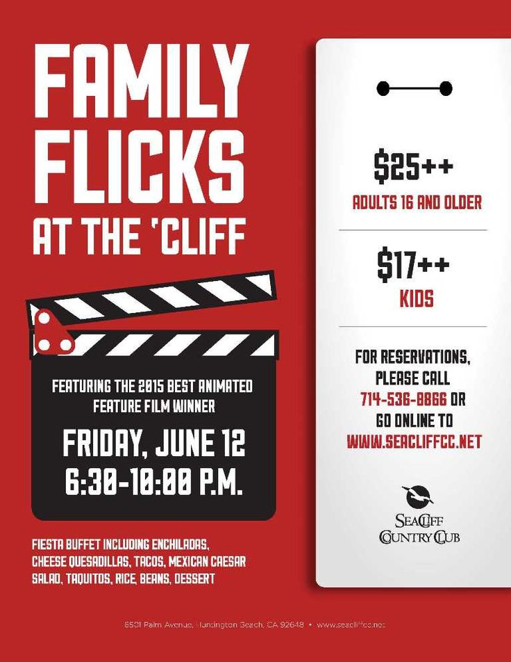 28 best Family Dining and Events images on Pinterest Poster - movie night flyer template