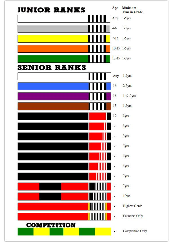 Brazilian Jiu Jitsu Belt Rankings