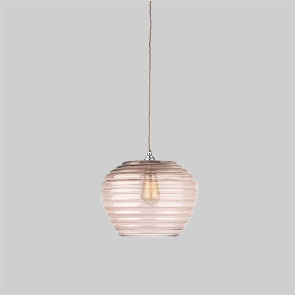 The Celeste lamp is a contemporary delicately coloured beehive pendant. The soft warm tone makes this lamp incredibly versatile in any lifestyle setting. This design is individually crafted and will vary from piece to piece; providing a unique and timeless product.