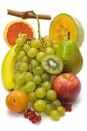 friss gyümölcs elszigetelt fölött fehér háttér photo