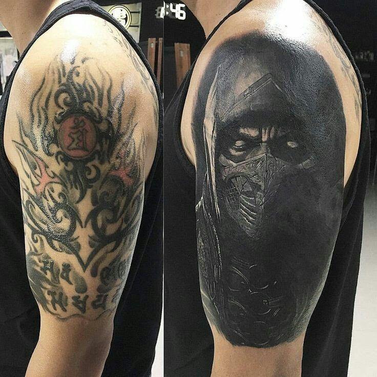 11 Tatuajes para hombres en el brazo para tapar otro