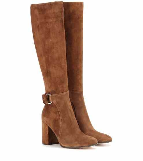 Lawrence suede knee-high boots | Gianvito Rossi