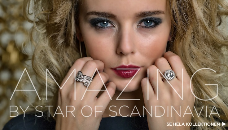 """Rings from STAR OF Scandinavia, collection """"AMAZING""""."""