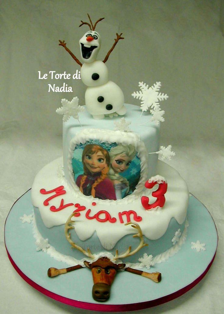 "Torta ""Frozen""  Info: 389 9355816 anche WhatsApp #frozen #frozencake #tortafrozen"