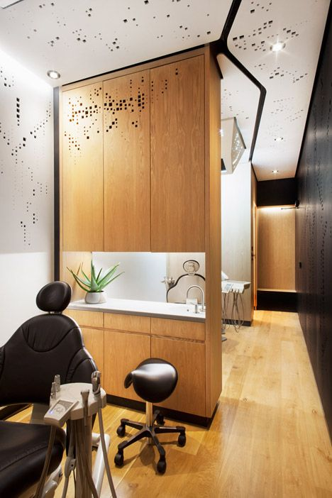 Studio Dental by Montalba Architects. San Francisco-based Montalba Architects has transformed a standard trailer into a mobile dental clinic, complete with two operating rooms and a reception area. Dental Healthcare