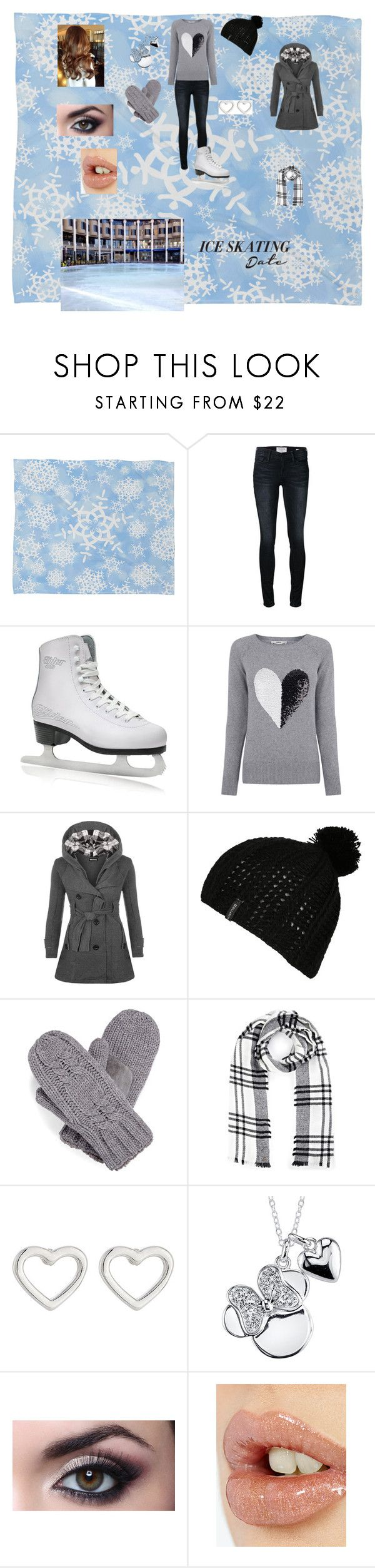 """Ice Skating Date Outfit"" by aliciakreb ❤ liked on Polyvore featuring moda, DENY Designs, Frame Denim, Oasis, WearAll, Billabong, Isotoner, Lipsy, Marc by Marc Jacobs ve Disney"