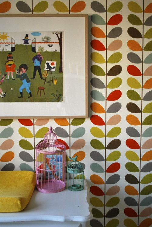 At Home with Femke: Orla Kiely Wallpaper | designsponge