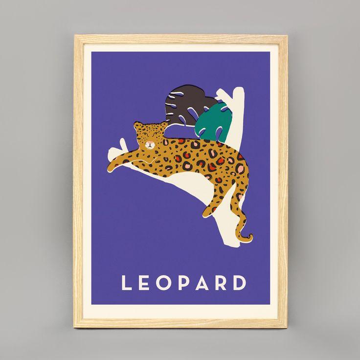 Leopard print ash frame
