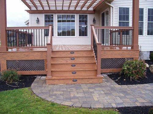 deck railing | ... For Constructing Decks And Deck Railing | Patio Deck Designs Idea