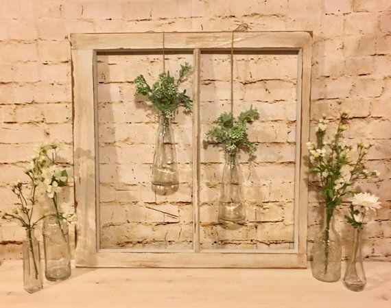 Old Window Frame, Vintage Window Frame, Antique Window, Farmhouse Florals