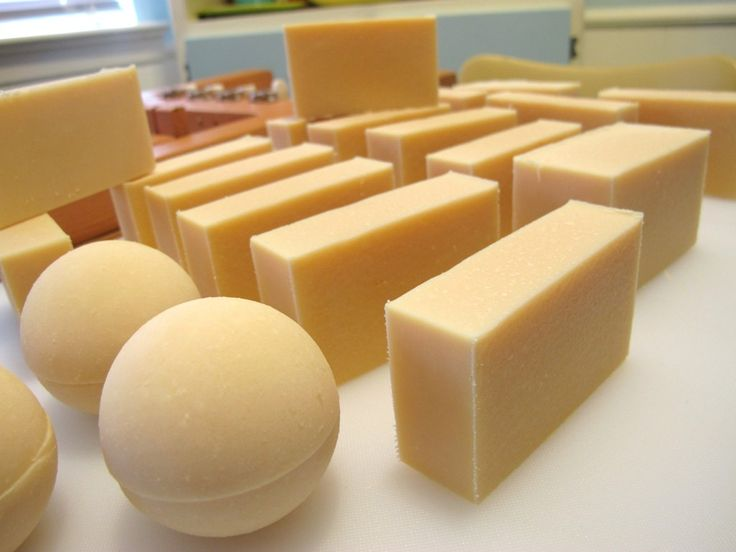 Goats milk soap is a very popular soap to make. You can make it with either fresh goat's milk or you can use goat's milk powder. The milk adds a creaminess to the soap and the sugars in the milk add to bubbly