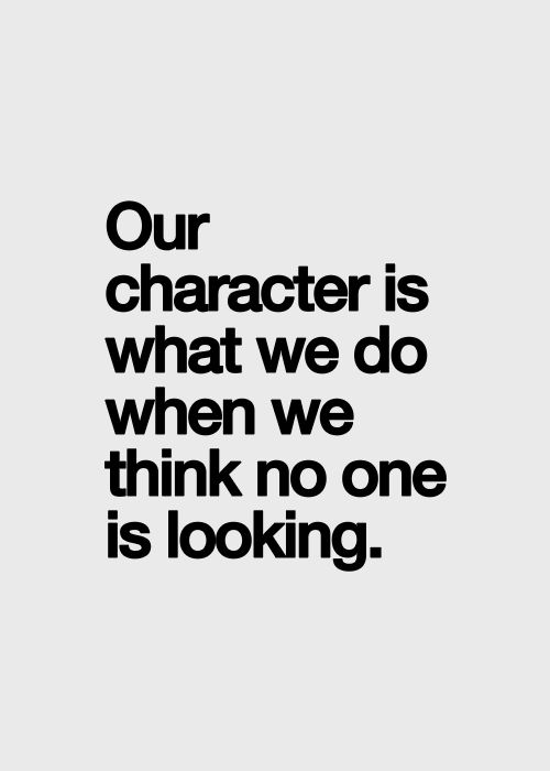 Our character..