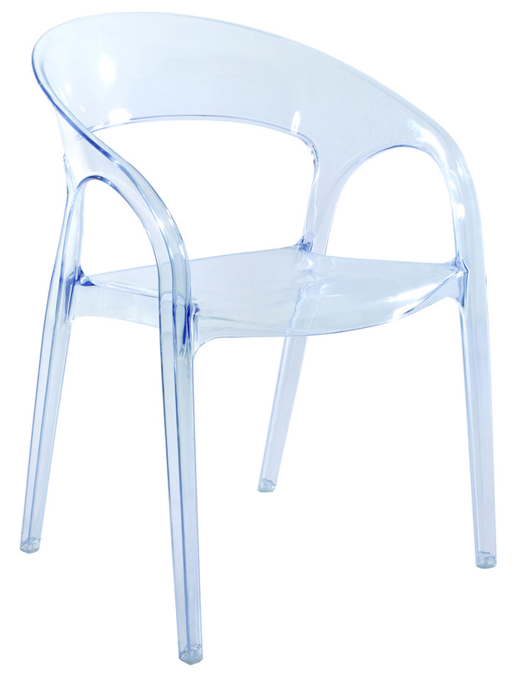Curved Clear Dining Chair Classic New York Pinterest