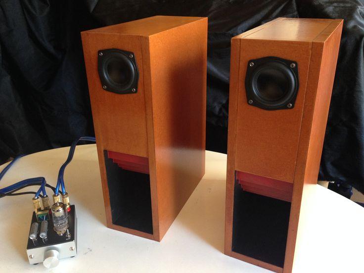 6cmフルレンジユニットのDayton Audio ND65-8を使ったバックロードホーン。