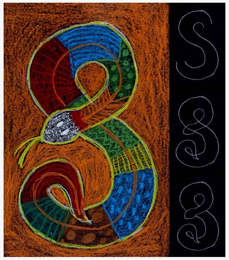 Aboriginal Snake Drawing