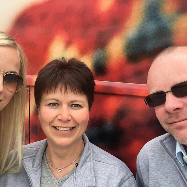 Today this happy crew; Essi, Carola & Daniel have been in Hyvinkää with the Dermosil on Tour -bus  #dermosilontour