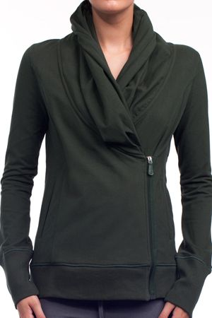 alo activewear asymmetrical jacket $89
