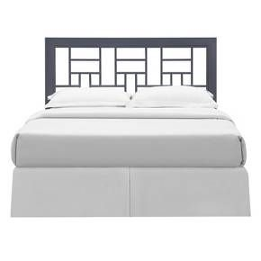 This square style headboard is the perfect centerpiece for any bedroom. This stylish headboard features a powder-coated finish over durable aluminum for a long-lasting, yet chic design. The queen-size headboard easily and safely attaches to most standard queen-size bed frames.