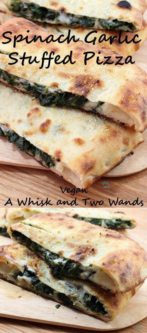 spinach-garlic-stuffed-pizza