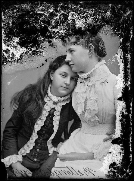 Portrait of two girls, [Bettington group]. Unattributed studio, Sydney, Australia, c.1880s. Tyrrell collection, Powerhouse Museum, 66/341